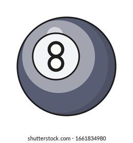 billiard vector flat color icon