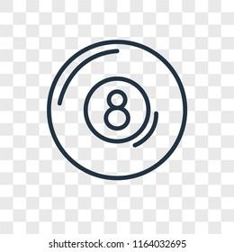 Billiard vector icon isolated on transparent background, Billiard logo concept