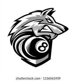 Billiard Wolf Team Logo