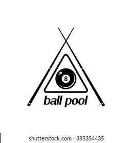 Billiards. 8 ball pool. The billiard icon. Game symbol. Vector illustration.