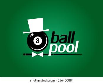 Billiards. 8 ball pool. Vector illustration.