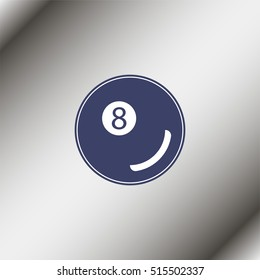 Billiards 8-ball pool flat icon for sports apps and websites