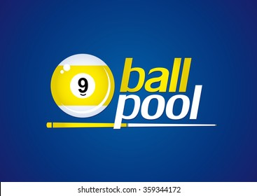 Billiards. 9 ball pool. Vector illustration.