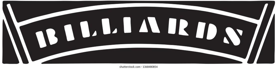 Billiards - Retro Ad Art Banner
