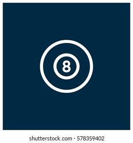 Billiards vector icon