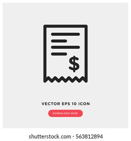 Billing vector icon, invoice symbol. Modern, simple flat vector illustration for web site or mobile app
