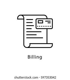 Billing Vector line Icon