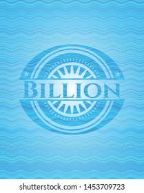 Billion water concept emblem. Vector Illustration. Detailed.