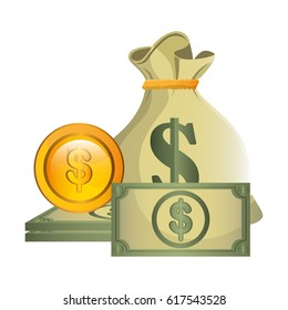 bills and coins icon