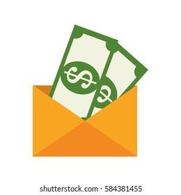 bills money isolated icon
