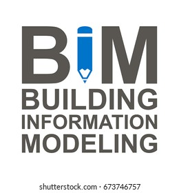 BIM Vector Icon. Building Information Modeling Illustration.