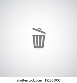 bin symbol on gray background