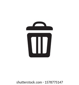 Bin symbol for web design. Minimalist icons