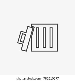 Bin vecor icon isolated on light grey background