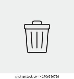 Bin vector icon illustration sign