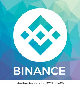 Binance (BNB) cryptocurrency exchange and blockchain currency vector logo.