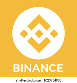 Binance (BNB) cryptocurrency exchange. Binance blockchain currency orange vector logo.