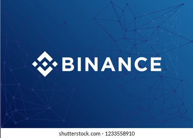 Binance Coin BNB cryptocurrency network vector illustration