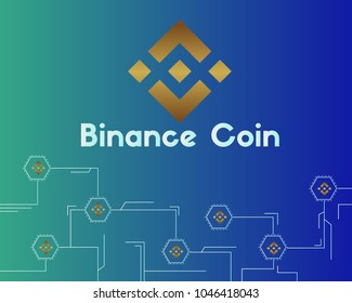 Binance coin circuit style background
