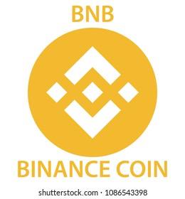 Binance Coin cryptocurrency blockchain icon. Virtual electronic, internet money or cryptocoin symbol, logo