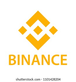 Binance coin cryptocurrency blockchain icon. Vector illustration of Binance. Virtual electronic, internet money or cryptocoin symbol, logo.