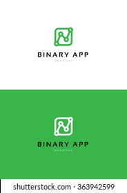 Binary application logo template.