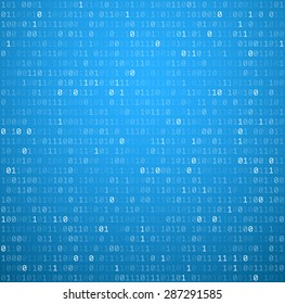 Binary blue background with digits. Vector illustration.