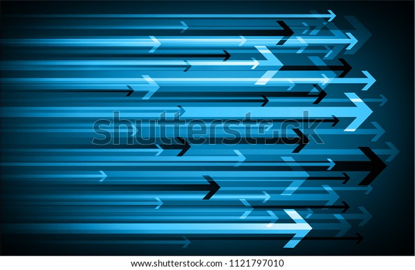 binary circuit board future technology, blue cyber security concept background, abstract hi speed digital internet.motion move blur. arrow pixel vector