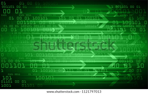binary circuit board future technology, green cyber security concept background, abstract hi speed digital internet.motion move blur. arrow pixel vector