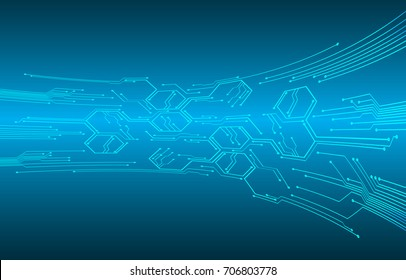 binary circuit future technology, blue cyber security concept background, abstract hi speed digital internet.motion move blur. pixel. vector