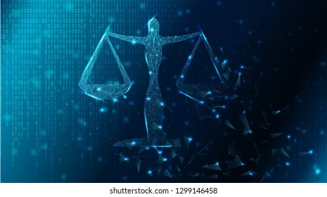 Binary code background vector illustration, blockchain and legal, made of triangle shape, crushing and fading in the dark.