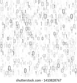 Binary code digital technology background. Computer data by 0 and 1. Algorithm Binary Data Code, Decryption and Encoding. Vector illustration.