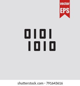 Binary code icon in trendy isolated on grey background.Vector illustration.