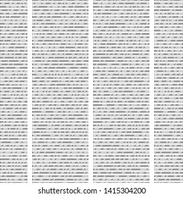 Binary code. Seamless repeating vector text. Zeros and ones. Template for computer design, wallpapers or backgrounds. Universal digital texture. Concept of coding, hacking and cyber security.