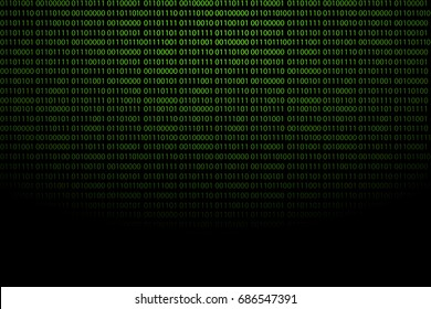 Binary code vector abstract background. Zero one computer code background