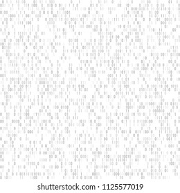 Binary code vector background with numbers one and zero. Seamless patern. Coding or hacker concept, digital technology background. Vector illustration.