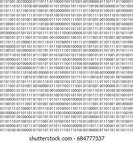 Binary code vector seamless pattern. Zero one computer code background