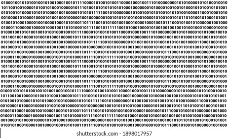 Binary code in a vector.Cyber data, decryption, and encryption in vector.Zero and one background.