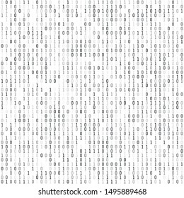 Binary coding - wallpaper. Computer digital information. Encryption and machine algorithms. Vector illustration isolated on white background