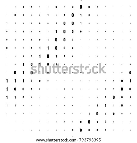 Binary Computer Code Background Gradient 01 Numbers Pattern Data And Technology Texture Matrix