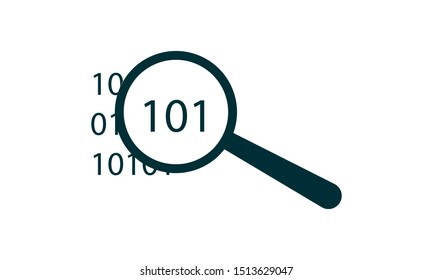 Binary Data Search icon vector, flat design best vector icon