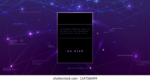Binary Infographic Vector Template Big Data Stock Vector