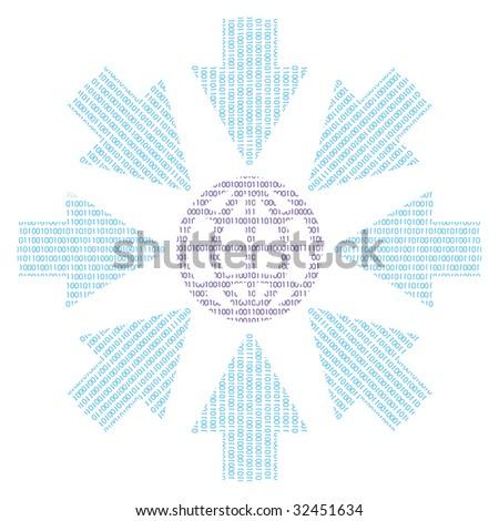 binary word globe binary code arrows stock vector royalty free