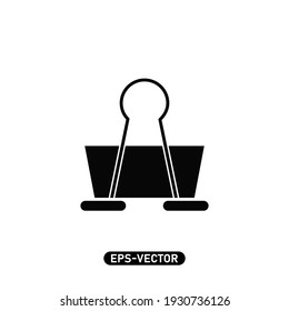 Binder clip icon vector illustration logo template for many purpose. Isolated on white background.