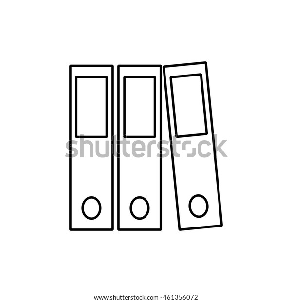 Binder outline icon illustration isolated vector sign symbol