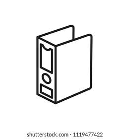 binder vector icon