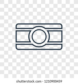Bindi concept vector linear icon isolated on transparent background, Bindi concept transparency concept in outline style