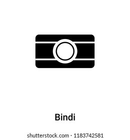 Bindi icon vector isolated on white background, logo concept of Bindi sign on transparent background, filled black symbol