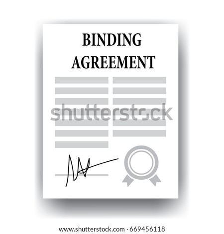 Binding Agreement Legal Paper Stock Vector Royalty Free 669456118