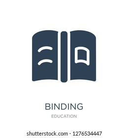 binding icon vector on white background, binding trendy filled icons from Education collection, binding vector illustration